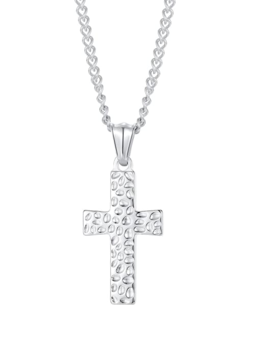 2001 [steel single pendant] Titanium Steel Cross Hip Hop Regligious Necklace